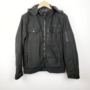 Rock & Republic | Black Zip Up Hooded Coat Size M